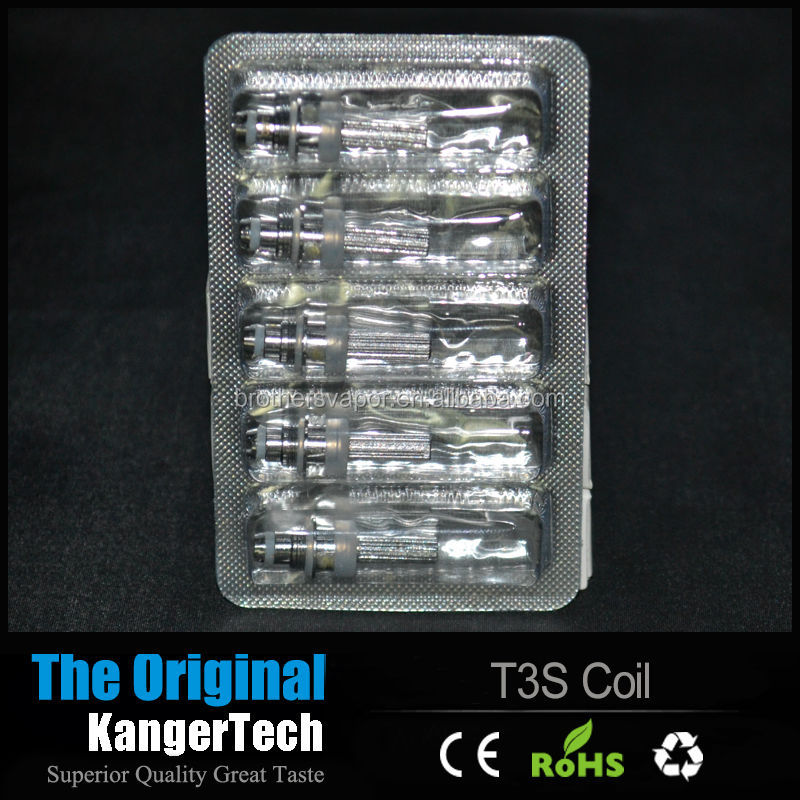 Kanger T3s Coil 2.5ohm/2.2ohm/1.8ohm Kanger T3S and MT3 Coil Heads Kanger T3S/MT3S Wicks