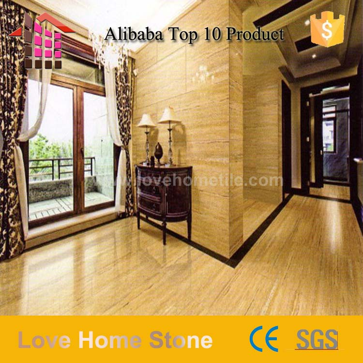 Alibaba Best Wholesale beige travertine yellow gold marble cross cut flooring and wall design