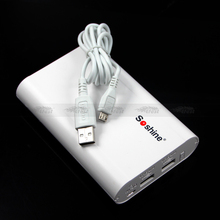 Hot selling portable power source with USB line Soshine SC-EAA Mobile Power Bank with 4*14500/AA/AAA battery