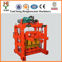 Paving block making machine QTJ4-35 paver stone maker concete color interlocking bricks makers for sale