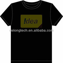 China el led flashing t-shirts with 100% cotton shirt
