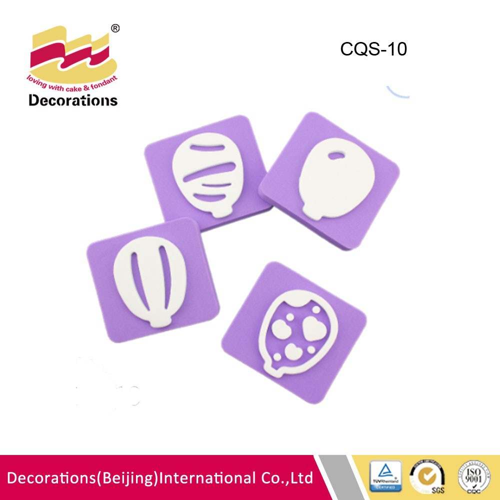 4 pcs colorful balloon cake stamp for cake decorating china manufacture