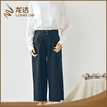 Longda Latest Oeko-Tex certified elegant latest loose lady trousers