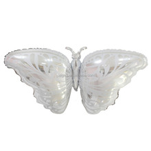 Wholesale new design Big Size 108*47CM flying silver Butterfly foil Helium balloon