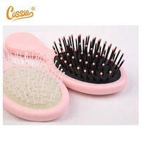 Soft Touch Travel Oval Hair Brush Boar Bristles & Flex Nylon Pins From Weixiang