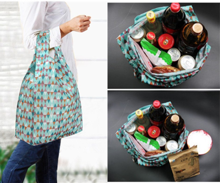 Travel Outdoor waterproof reusable Nylon foldable shopping bag