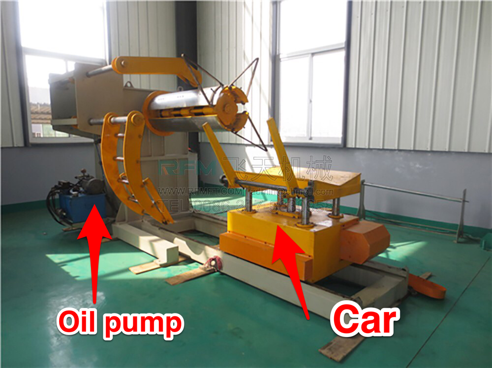 hydraulic decoiler for roll forming machine