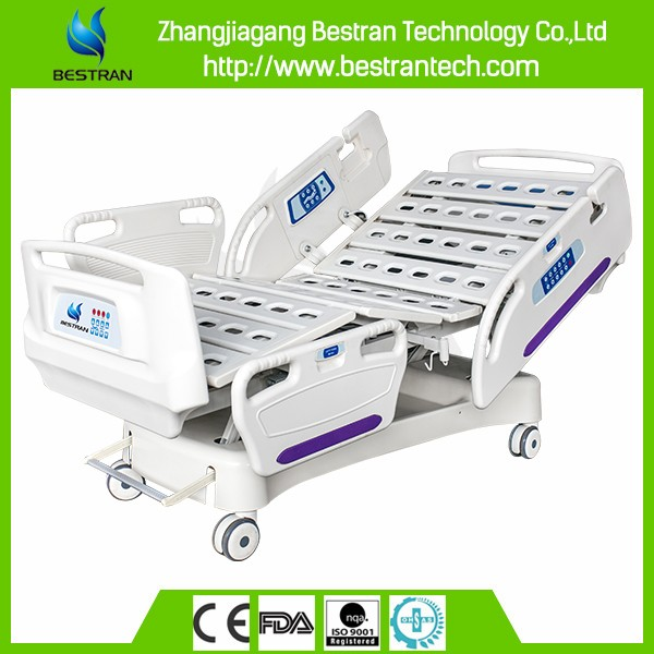 China BT-AE003 Hospital 5 function linak electric patient bed, Full Electric Hospital Bed Sales Price