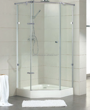 small shower enclosures / corner standing tempered glass shower