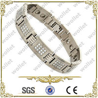 Cubic Zirconia Stainless Steel Energy Balance Bracelets For Men