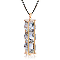 Hot sale crystal jewelry necklace trendy necklace 2014 wholesale tasbih necklace for women