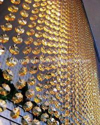 HX-0108G elegant wedding & event party & HOME decor crystal beaded curtain