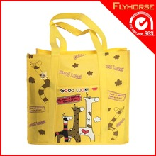 2015 high quality cute pp non woven shopping bag with magic tape sealing