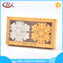 BBC Christmas Gift Sets Suit 002 Excellent quality skin care natural snowflake shape bath soap