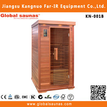wooden accent in infrared sauna design room KN-001B