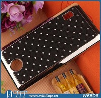 Starry Crystal Mobile Phone Hard Chrome Plastic Case for Huawei Ascend Y635