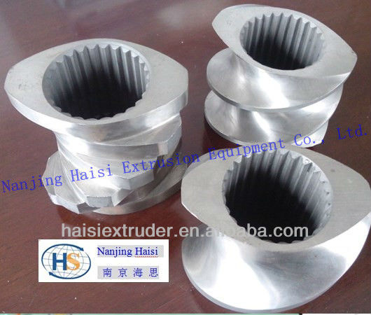 special heat-treatment screw and barrel for plastic extruder machine