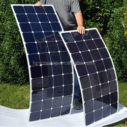 hot sale 20% high efficiency flexible solar panel, mono semi flexible solar panel, 100 watt flexible solar panel china