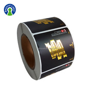 Hot sale Custom Adhesive Gold Foil Stamping Labels,Custom Waterproof Roll Logo Stickers,Custom Vinyl Sticker Roll