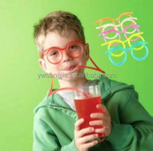 Fancy glasses drinking straw