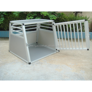Aluminum Dog Car Cage with round bars