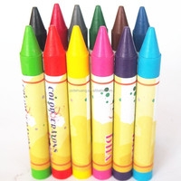 yes customized high quality non-toxic bright color wax crayon