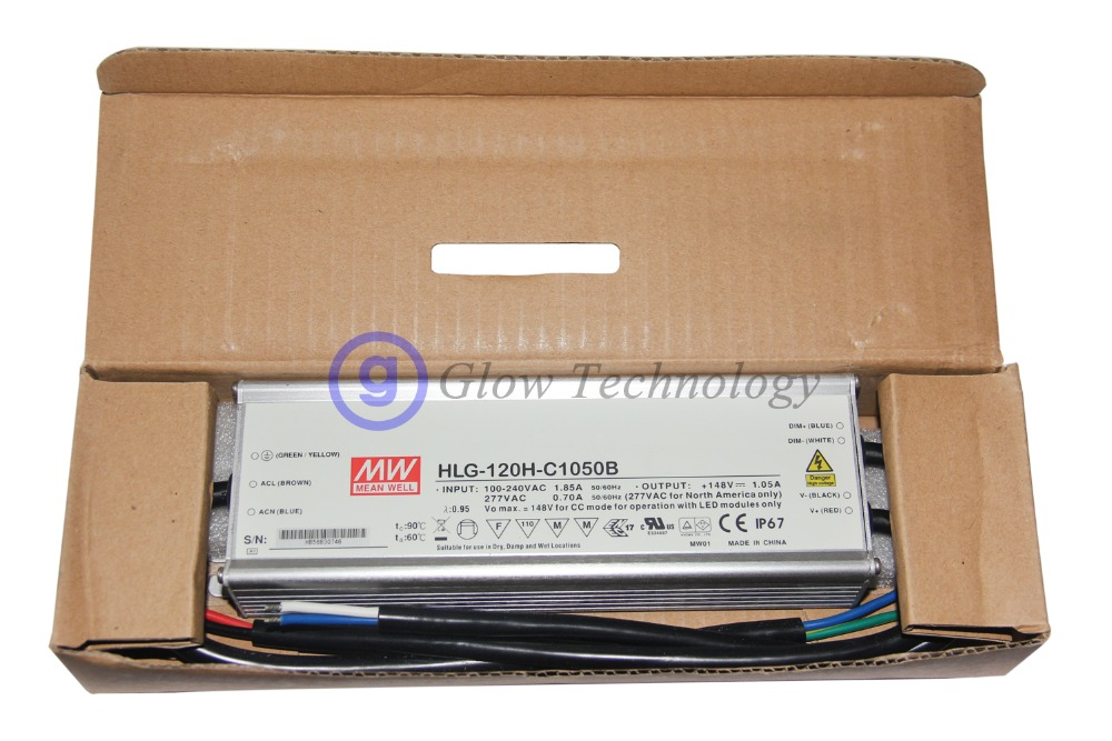 Meanwell HLG-120H-C Series 150W Single Output LED Power Supply HLG-120H-C350 HLG-120H-C350A HLG-120H-C350B 350mA