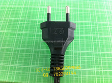 Wholesale YUNHUN BRAND YHB-1 model Brazil 2 pin electric plug with H03VVH2-F2x0.75mm2 Wire cable