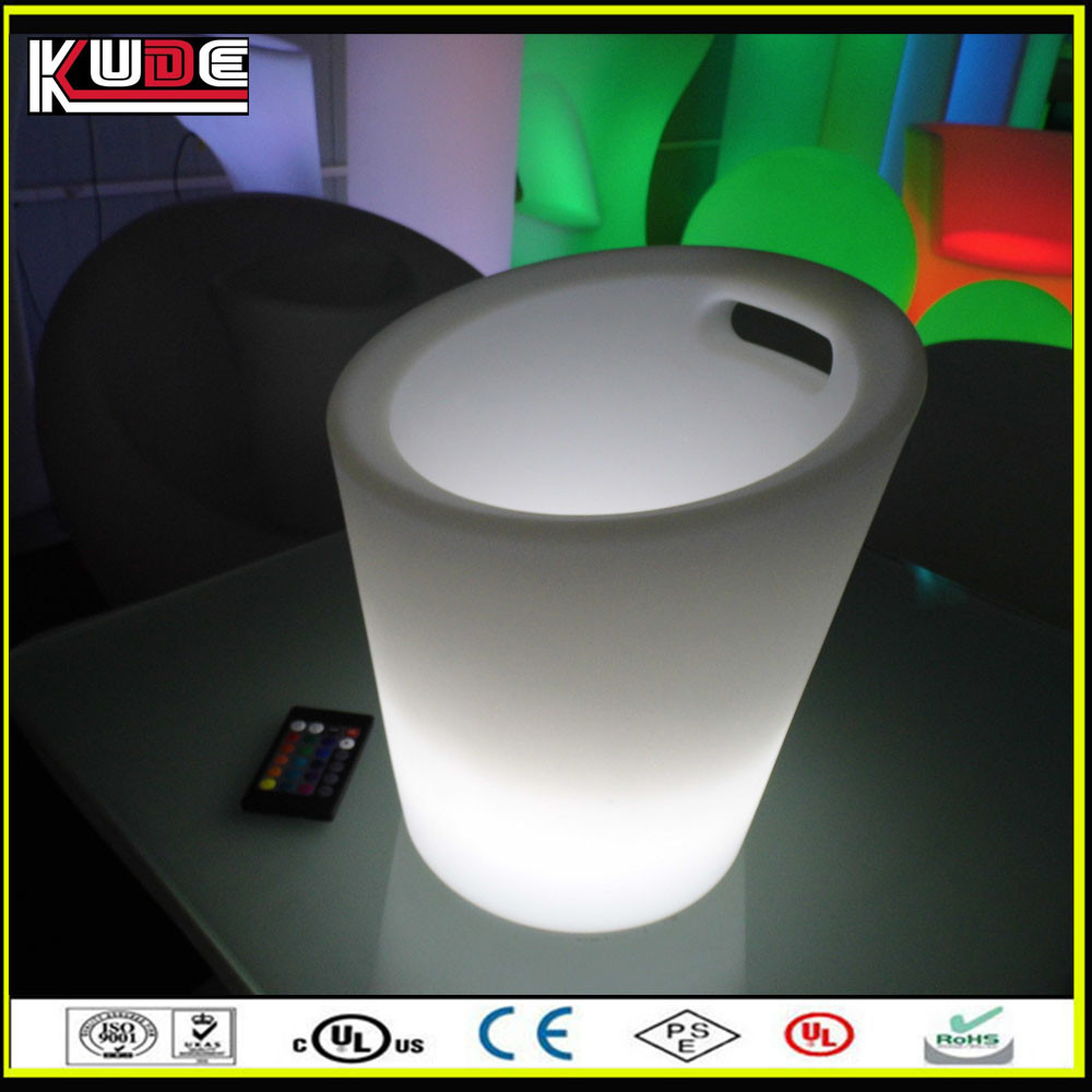 outdoor events LED plastic ice buckets for commercial