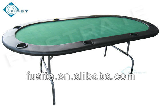 8 Persons Folding Casino Oval Poker Tables