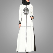 Embroidered Arab women abaya islamic maxi dress fashion muslim women wear