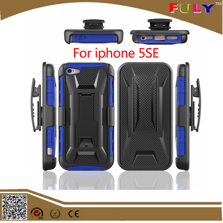 Armor Case for iphone 5 SE 5S Hybrid 3in1 Heavy Duty Impact Shockproof Cover with Holster Belt Clip