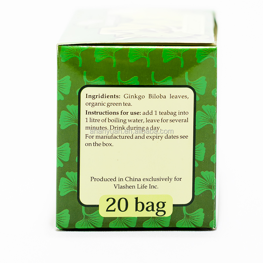 Herbal Ginkgo biloba teabag ,blood regulation tea.OEM package
