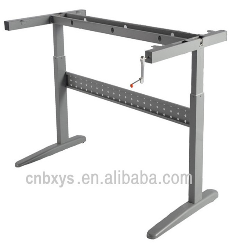 Manual Adjustable Height Computer Table Stand Frame With