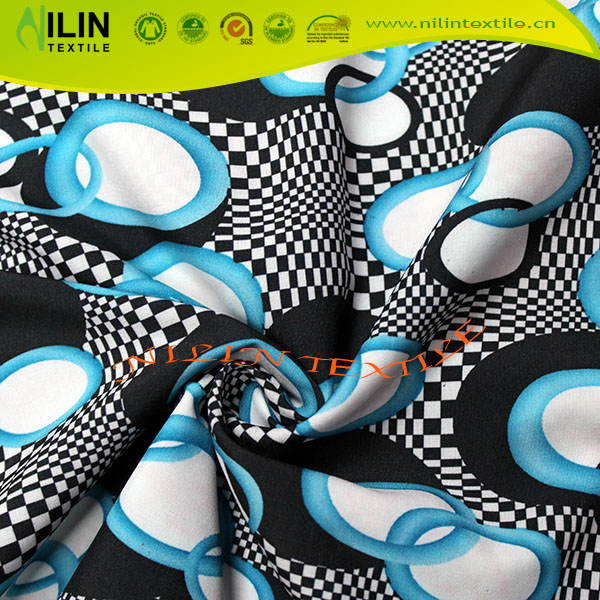 4 way strech polyester spandex textile printing lycra fabric