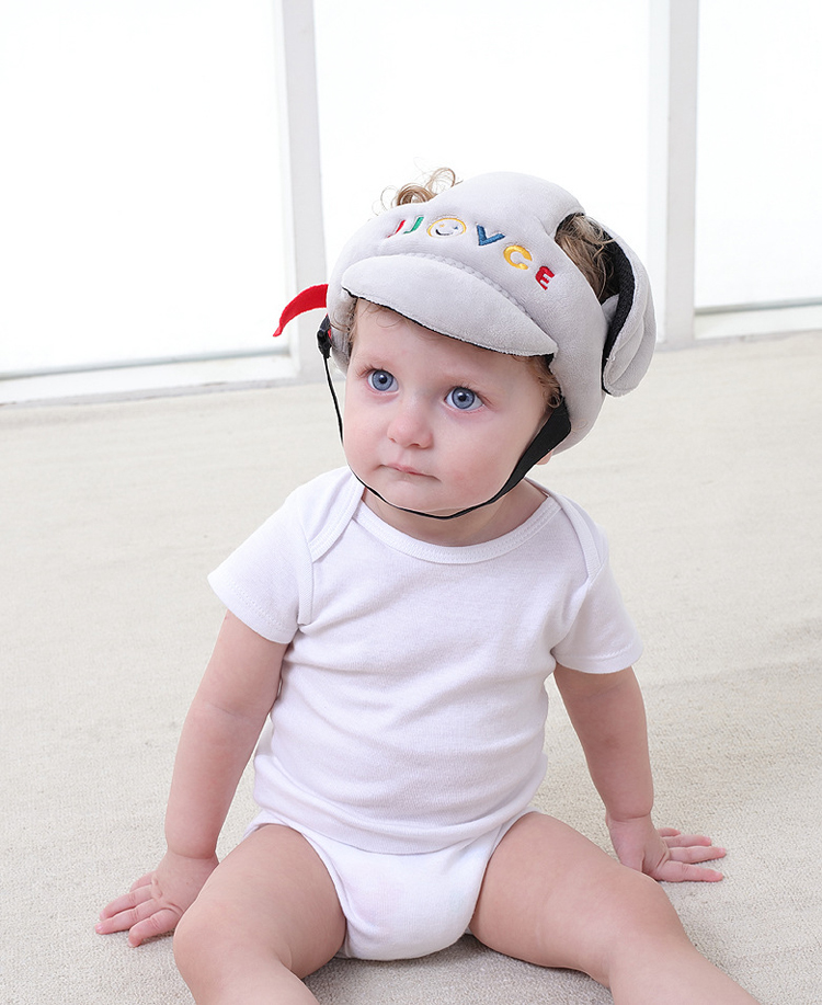 Soft Cotton Safety Helmet Protective Hat Cap Head Gear for Baby Toddler 3 Colors