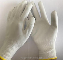 High quality cheap China PU coated white safety work gloves