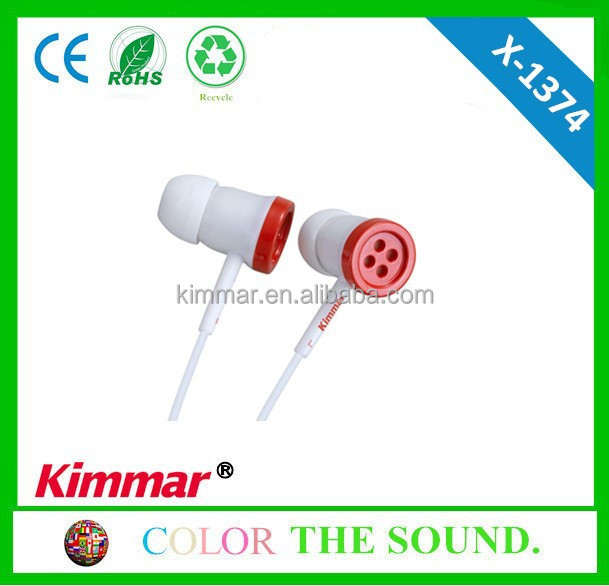Button like in-ear earphone X-1374 with customised design and low price
