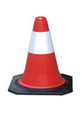 100cm\75cm\50cm PE traffic cone with reflective tape, safety cone with rubber base to guide the road