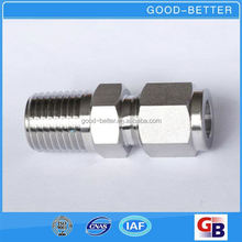 Hot selling stainless steel 304/316 male union pipe connector fitting