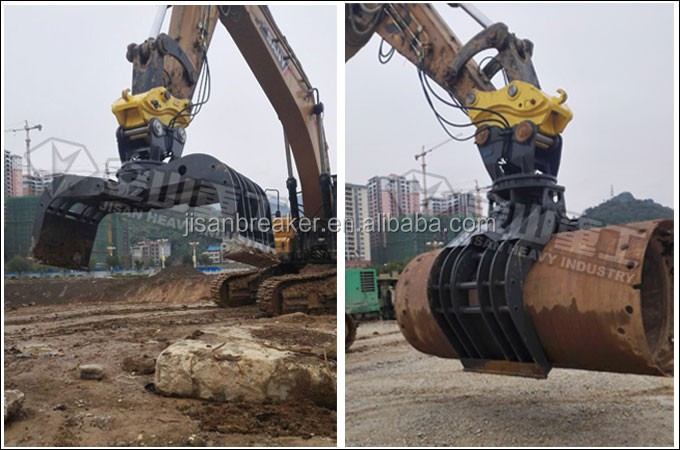 20ton excavator used hydraulic demolition sorting grapple