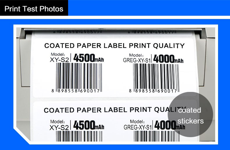 Verbeterde 110mm x 300 m anti-kras barcode printer hars linten voor PET/PVC labels