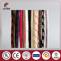 2016 factoyr wholesale 100& cotton colorful braided round rope /100%cotton Hemp string round rope /twisted rope