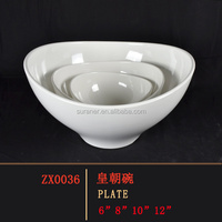 5 star hotel luxury factory promotion price white melamine rice bowl