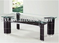 2012 best selling cheap leather glass coffee table design