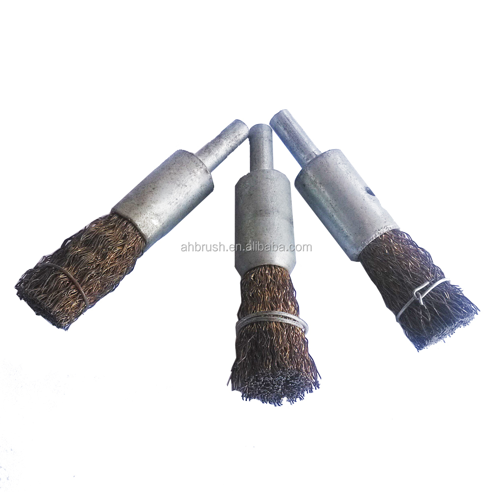 hot sale stainess steel wire rust removal end brush from china