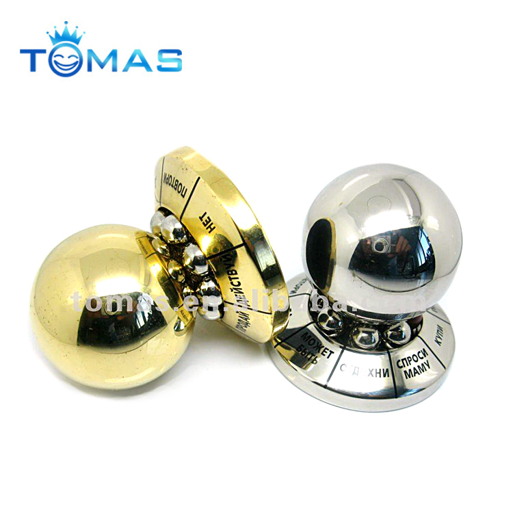 Custom metal paper weight metal ball decision maker