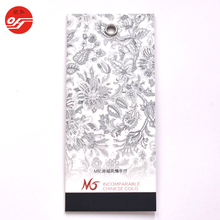 China Factory Printed White Paper Die Cut Hang Tag for Clothing