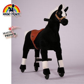 (EN71&ASTM&CE)~(Pass!!)~ Magic Prince Best Saddle-less  ride on animal toys for kids riding in shopping mall, giddy up horse