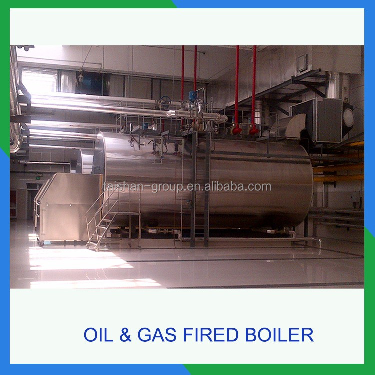 WNS type Oil &Gas-fired Steam boiler 3000kg/hr for food industry